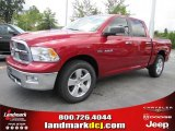 2010 Inferno Red Crystal Pearl Dodge Ram 1500 Lone Star Crew Cab #37175144