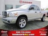 2008 Bright Silver Metallic Dodge Ram 1500 Lone Star Edition Quad Cab #37175154
