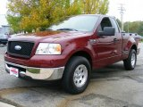 2006 Dark Toreador Red Metallic Ford F150 XLT Regular Cab #37174971