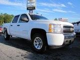 2008 Summit White Chevrolet Silverado 1500 LS Crew Cab #37225261