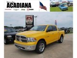 2009 Detonator Yellow Dodge Ram 1500 Big Horn Edition Crew Cab #37225136