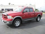 2009 Inferno Red Crystal Pearl Dodge Ram 1500 TRX4 Quad Cab 4x4 #37225388