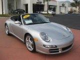 2007 Arctic Silver Metallic Porsche 911 Carrera 4S Cabriolet #37224977