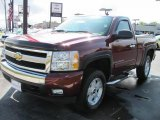 2008 Deep Ruby Metallic Chevrolet Silverado 1500 LT Regular Cab 4x4 #37225753