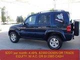 2002 Patriot Blue Pearlcoat Jeep Liberty Limited 4x4 #37225239