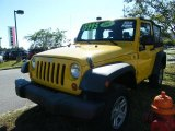 2007 Jeep Wrangler Detonator Yellow