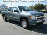 2011 Blue Granite Metallic Chevrolet Silverado 1500 LT Crew Cab #37282907