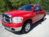 2007 Flame Red Dodge Ram 1500 SLT Quad Cab #37322559