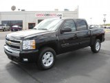 2011 Black Chevrolet Silverado 1500 LT Crew Cab 4x4 #37322237