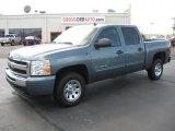 2011 Blue Granite Metallic Chevrolet Silverado 1500 LS Crew Cab #37322238