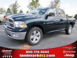 2011 Hunter Green Pearl Dodge Ram 1500 Big Horn Crew Cab #37321868