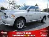 2011 Bright Silver Metallic Dodge Ram 1500 Sport Quad Cab #37321870