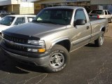 2000 Light Pewter Metallic Chevrolet Silverado 1500 LS Regular Cab 4x4 #3732062