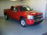 2008 Victory Red Chevrolet Silverado 1500 LT Extended Cab #37322311