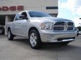 2011 Bright Silver Metallic Dodge Ram 1500 Big Horn Crew Cab 4x4 #37322334