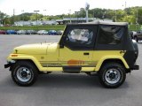 1990 Jeep Wrangler Malibu Yellow