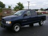 2004 Patriot Blue Pearl Dodge Ram 1500 ST Quad Cab 4x4 #37423954