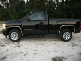 2008 Black Chevrolet Silverado 1500 LS Regular Cab #37424045