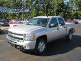 2011 Sheer Silver Metallic Chevrolet Silverado 1500 LT Crew Cab 4x4 #37424334