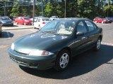 2002 Forest Green Metallic Chevrolet Cavalier LS Sedan #37424338