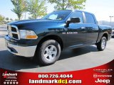 2011 Hunter Green Pearl Dodge Ram 1500 SLT Crew Cab 4x4 #37423803
