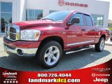 2007 Inferno Red Crystal Pearl Dodge Ram 1500 ST Quad Cab #37423811