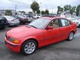 2001 Bright Red BMW 3 Series 325i Sedan #37424106