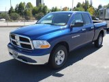 2011 Deep Water Blue Pearl Dodge Ram 1500 SLT Quad Cab #37424374
