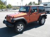 2011 Mango Tango Pearl Jeep Wrangler Rubicon 4x4 #37424376
