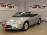 2002 Sterling Blue Satin Glow Chrysler Sebring Limited Convertible #37424423