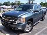 2010 Blue Granite Metallic Chevrolet Silverado 1500 LTZ Crew Cab 4x4 #37492994