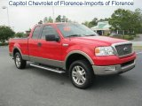 Bright Red Ford F150 in 2005