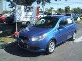 Bright Blue Chevrolet Aveo in 2010