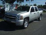 2011 Sheer Silver Metallic Chevrolet Silverado 1500 LT Crew Cab 4x4 #37492757