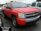 2008 Victory Red Chevrolet Silverado 1500 Work Truck Regular Cab 4x4 #37531591