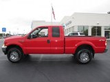 2002 Red Clearcoat Ford F250 Super Duty XLT SuperCab 4x4 #37531681