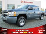 2009 Blue Granite Metallic Chevrolet Silverado 1500 Crew Cab #37531856