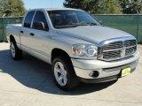 2008 Bright Silver Metallic Dodge Ram 1500 Lone Star Edition Quad Cab 4x4 #37531918