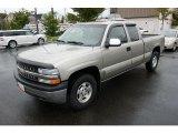 2001 Light Pewter Metallic Chevrolet Silverado 1500 LS Extended Cab 4x4 #37531937