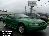 2001 Electric Green Metallic Ford Mustang V6 Convertible #37584418
