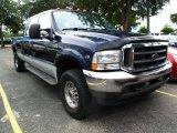 2004 True Blue Metallic Ford F250 Super Duty XLT Crew Cab 4x4 #37584474