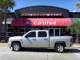 2008 Silver Birch Metallic Chevrolet Silverado 1500 LS Crew Cab #37584625