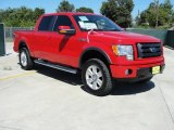 2010 Vermillion Red Ford F150 FX4 SuperCrew 4x4 #37584803