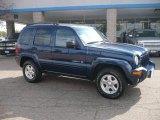 2002 Patriot Blue Pearlcoat Jeep Liberty Limited 4x4 #37637695