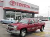 2004 Sport Red Metallic Chevrolet Silverado 1500 LS Extended Cab 4x4 #37637715