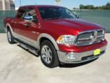 2009 Flame Red Dodge Ram 1500 Laramie Crew Cab #37637910