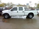 2002 Oxford White Ford F250 Super Duty XLT Crew Cab 4x4 #37638206