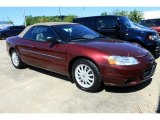 2002 Dark Garnet Red Pearl Chrysler Sebring LXi Convertible #37637927