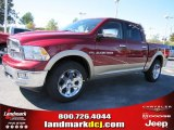 2011 Deep Cherry Red Crystal Pearl Dodge Ram 1500 Laramie Crew Cab #37637765