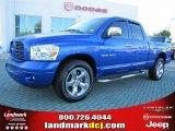 2007 Electric Blue Pearl Dodge Ram 1500 Sport Quad Cab #37637767